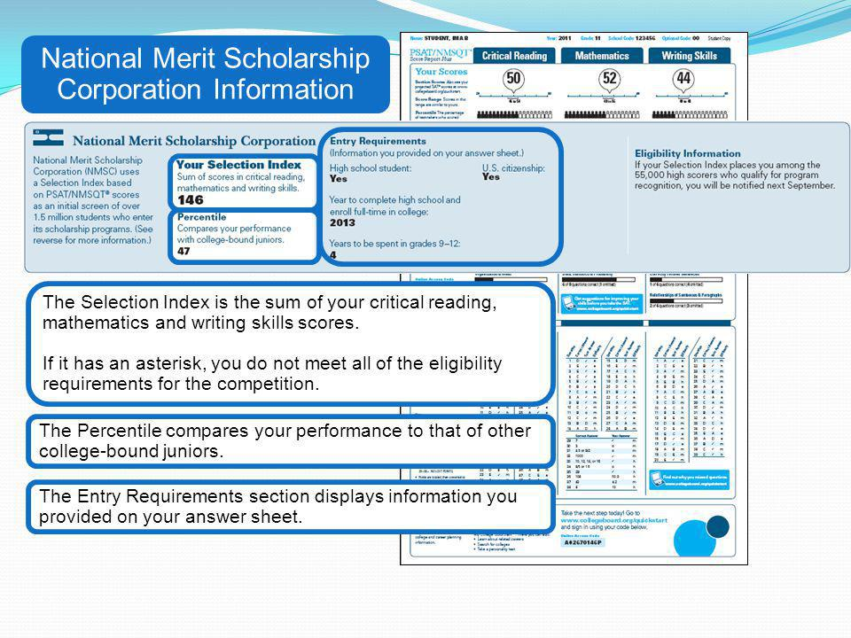 National Merit Scholarship Corporation Information
