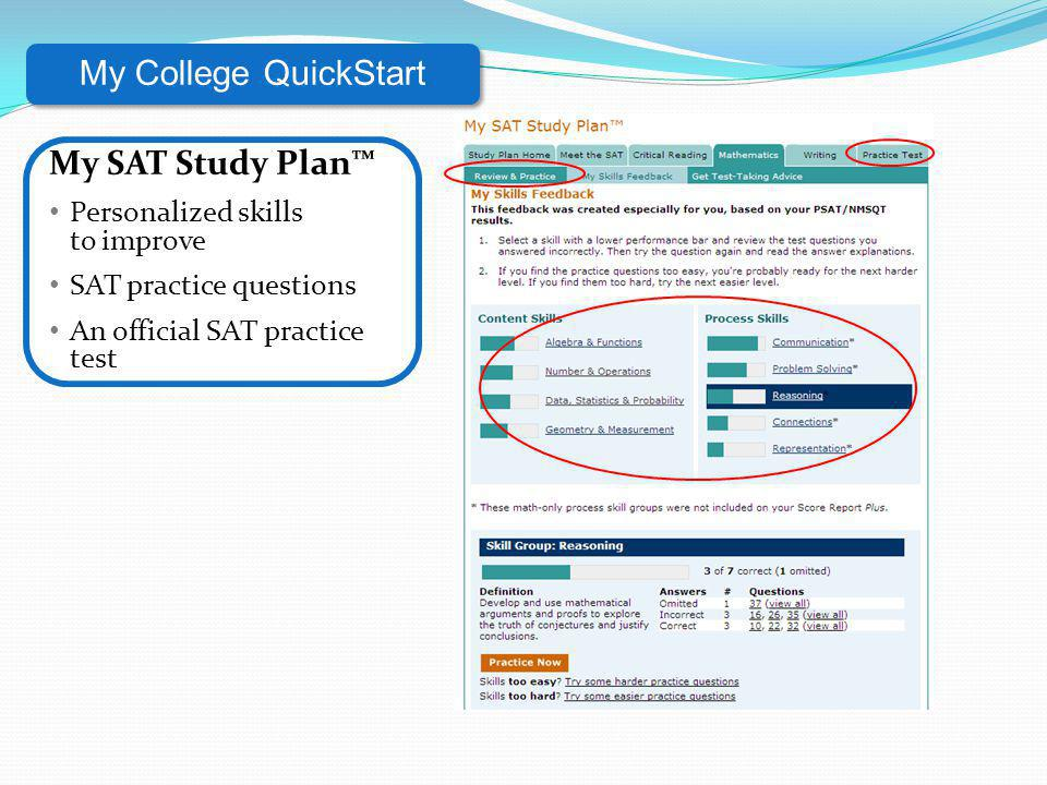 My College QuickStart My SAT Study Plan™