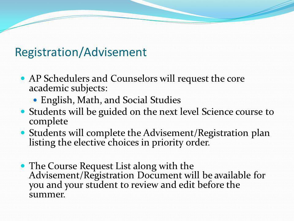 Registration/Advisement