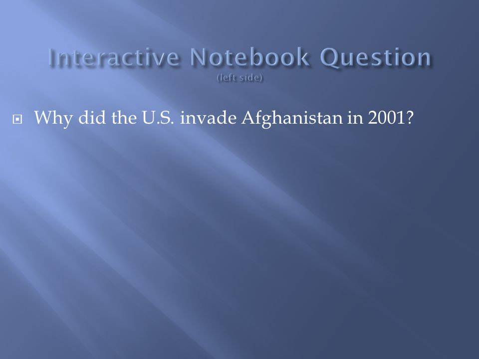 Interactive Notebook Question (left side)