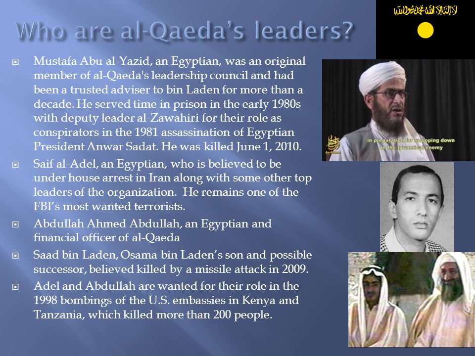 Who are al-Qaeda's leaders