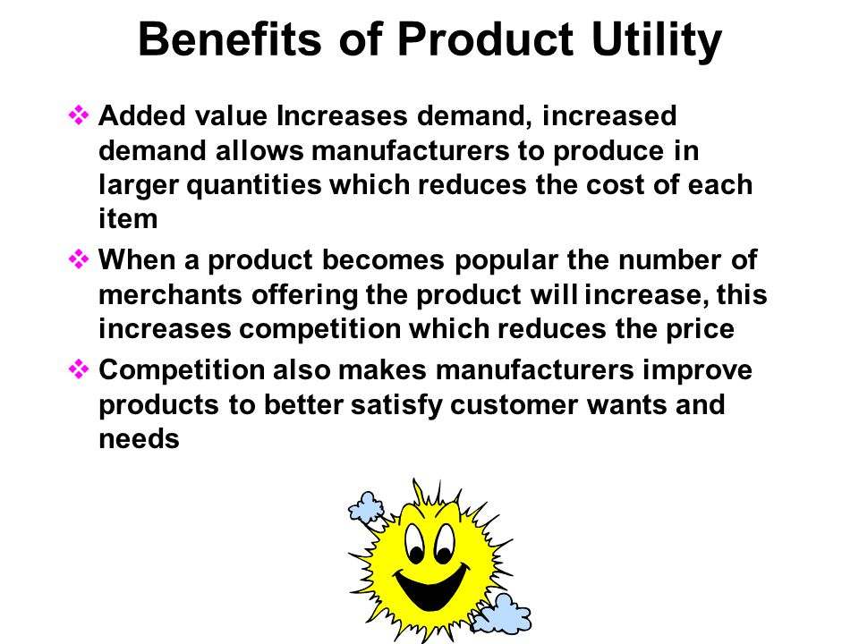 Benefits of Product Utility