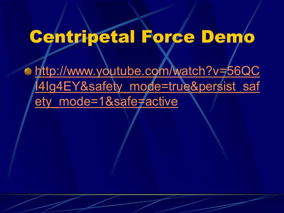 Centripetal Force Demo