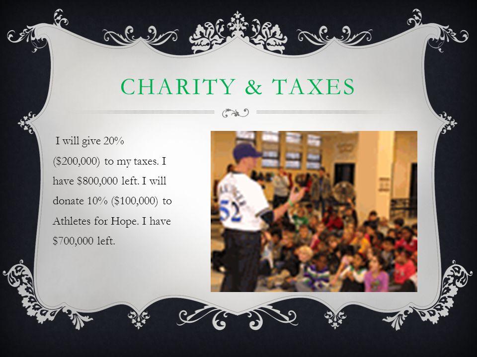 Charity & taxes