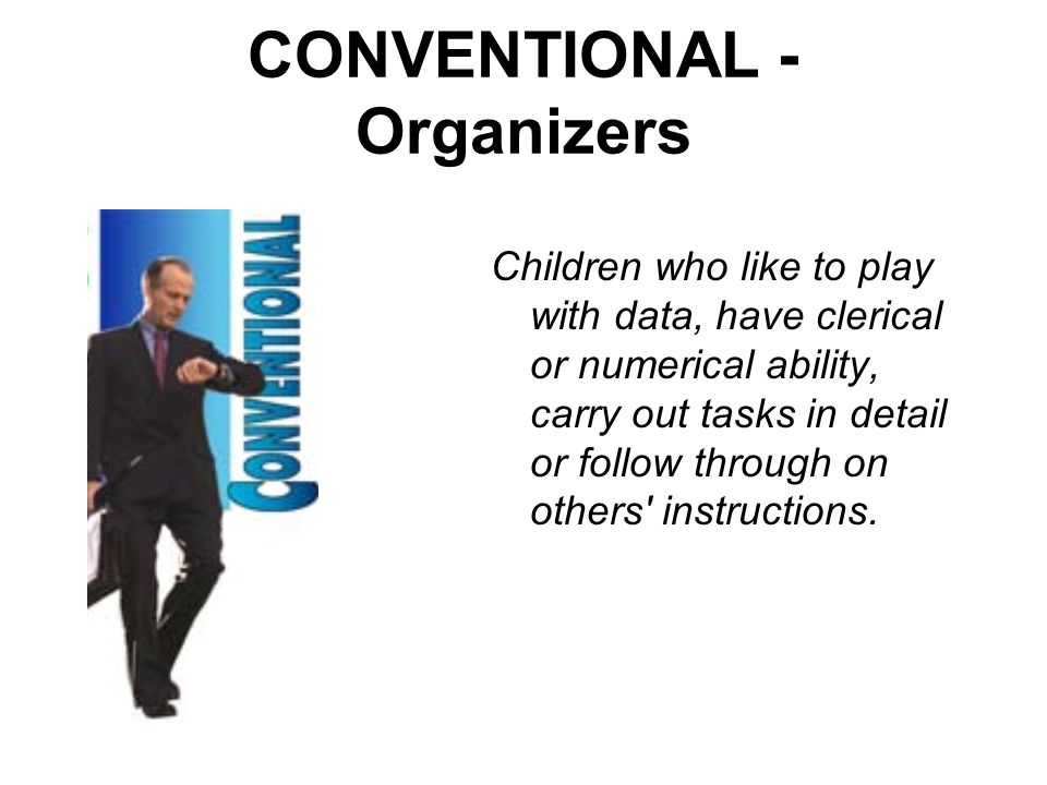 CONVENTIONAL - Organizers