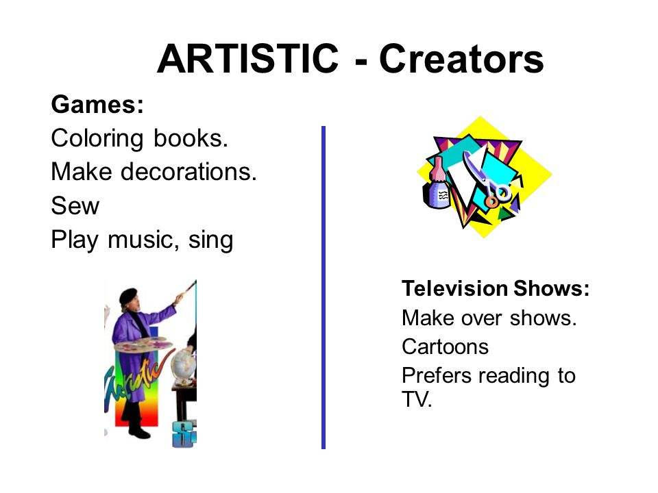 ARTISTIC - Creators Games: Coloring books. Make decorations. Sew