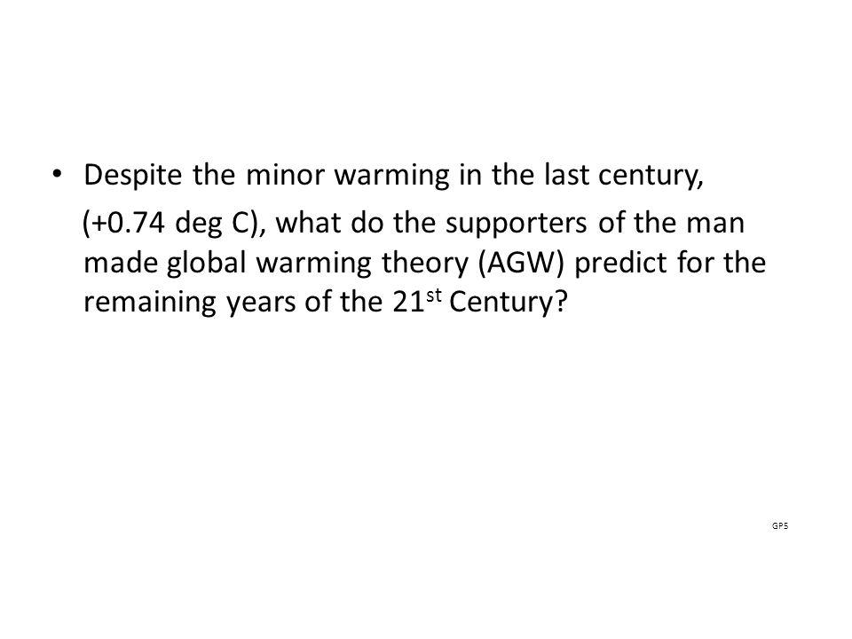 GP5 Despite the minor warming in the last century,