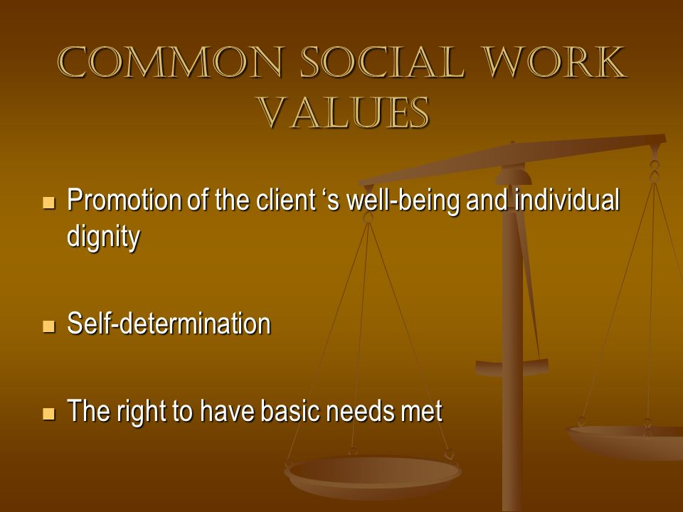 Common Social Work Values