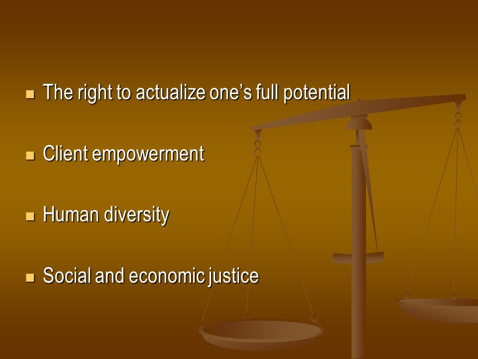 The right to actualize one's full potential