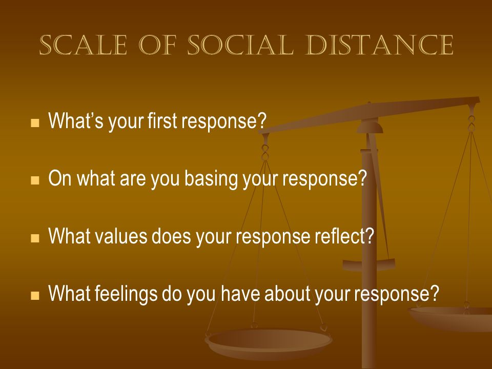 Scale of social distance
