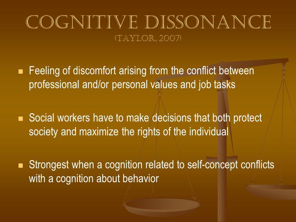 Cognitive dissonance (Taylor, 2007)