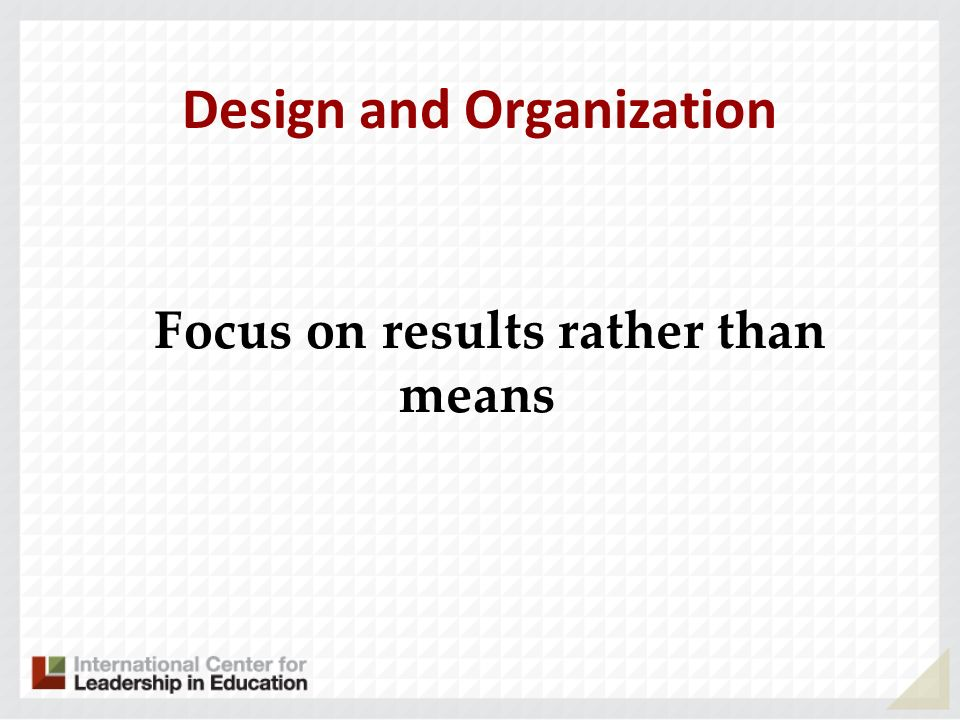 Design and Organization
