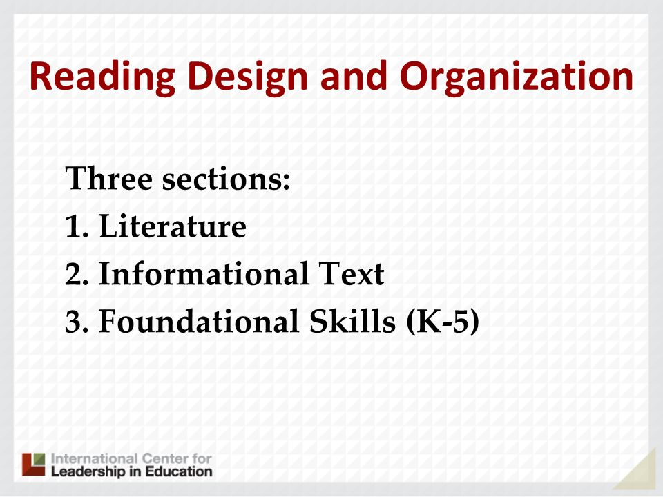 Reading Design and Organization