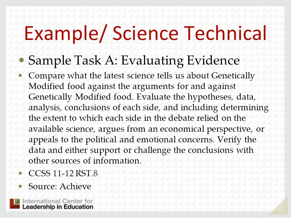 Example/ Science Technical