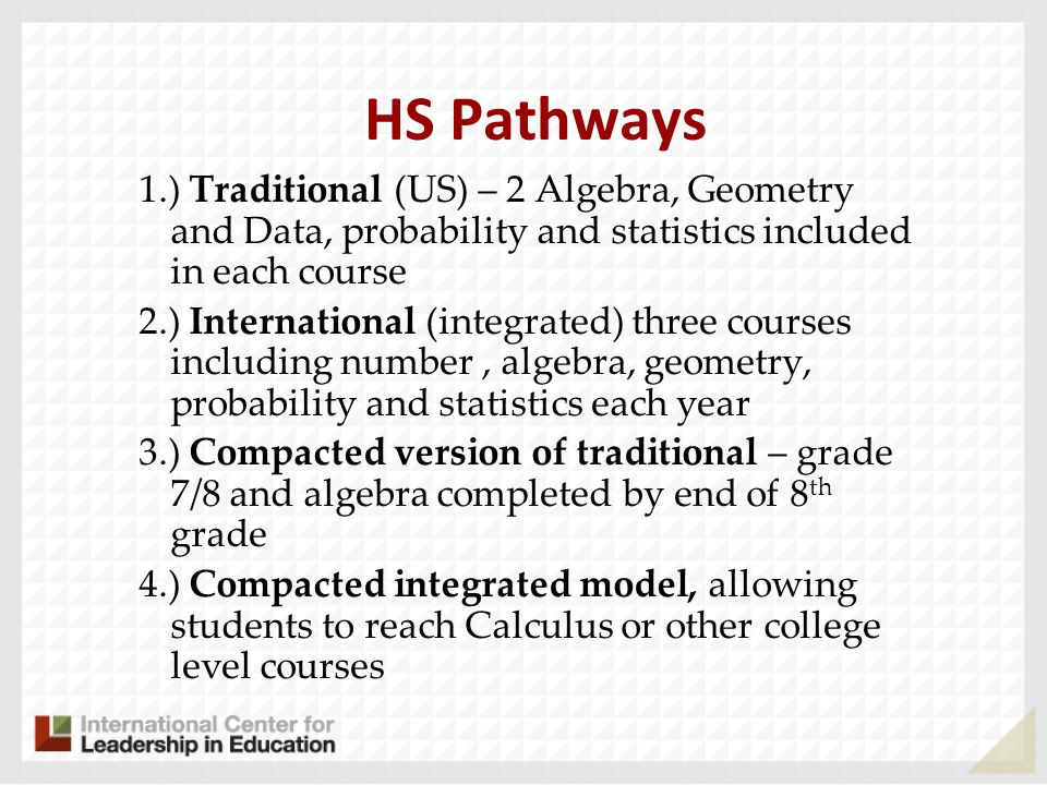 HS Pathways