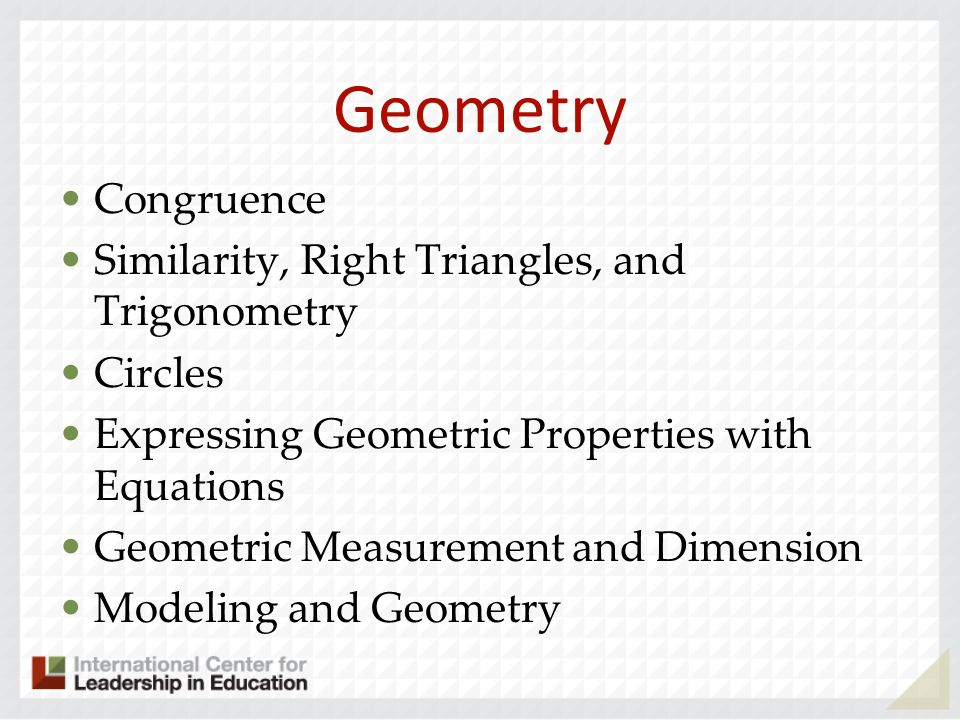 Geometry Congruence Similarity, Right Triangles, and Trigonometry