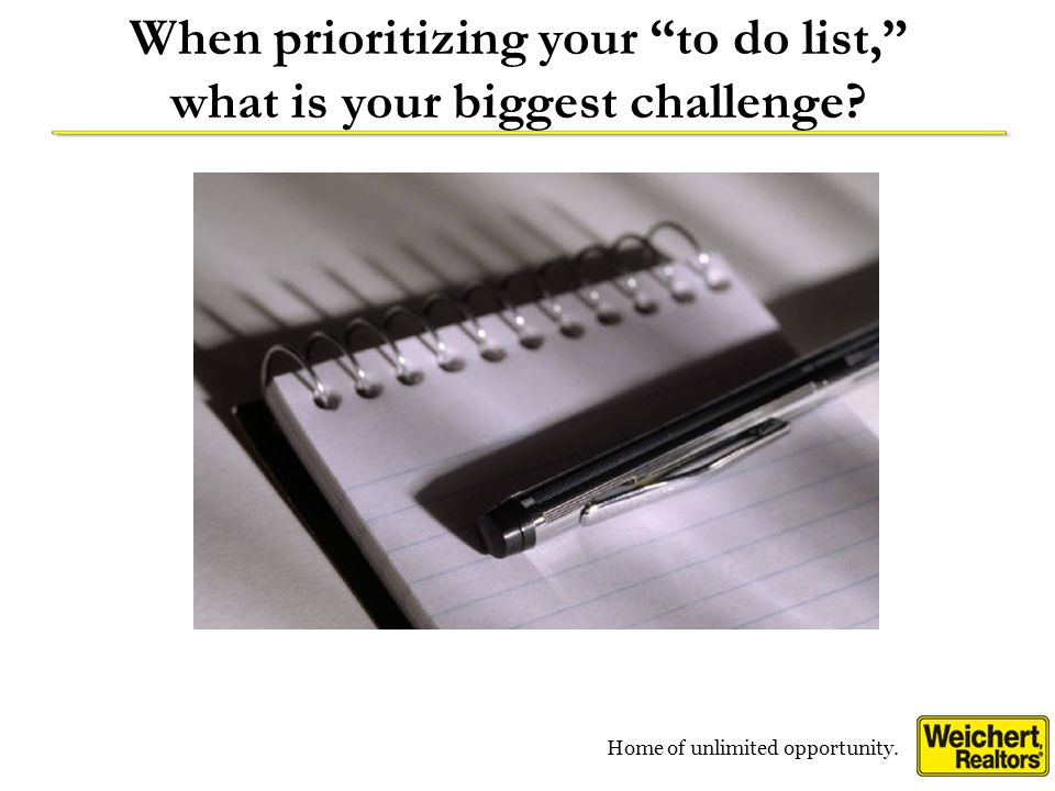 When prioritizing your to do list, what is your biggest challenge