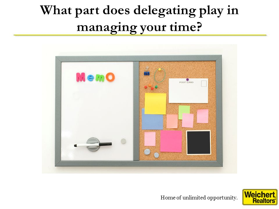 What part does delegating play in managing your time
