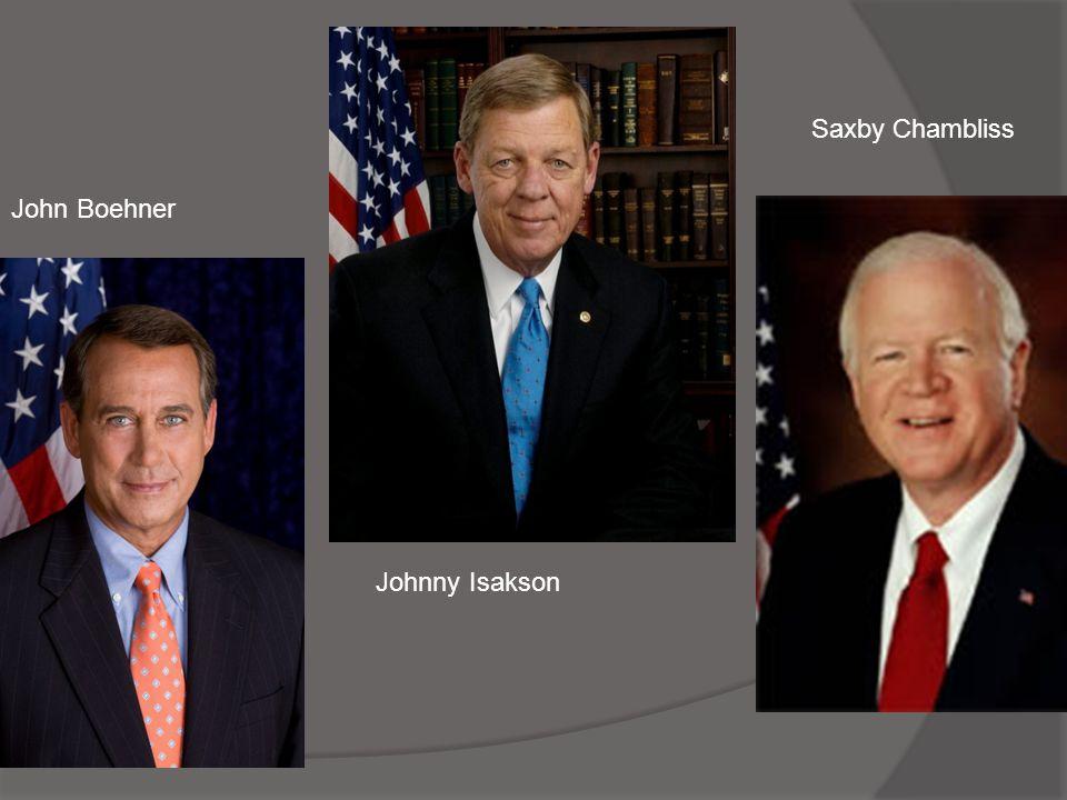 Saxby Chambliss John Boehner Johnny Isakson
