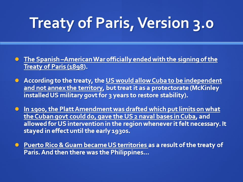 Treaty of Paris, Version 3.0