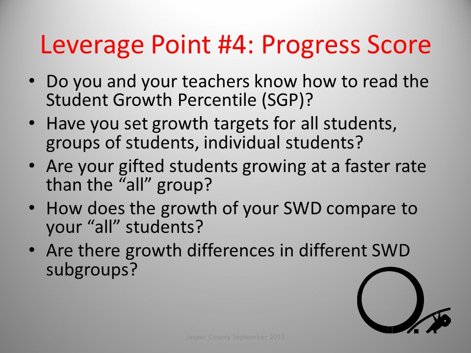 Leverage Point #4: Progress Score