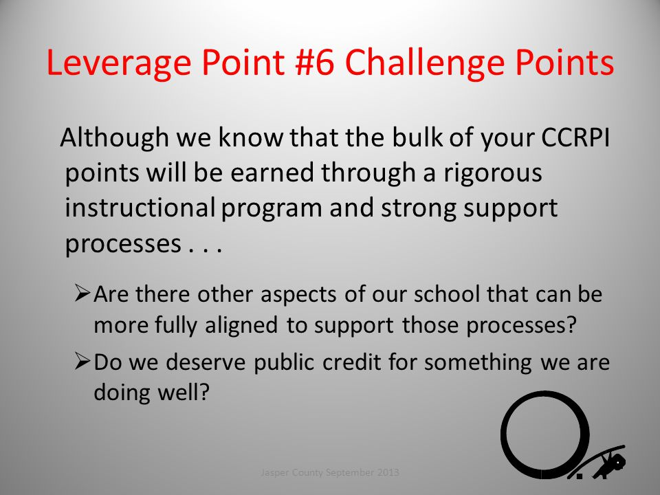 Leverage Point #6 Challenge Points