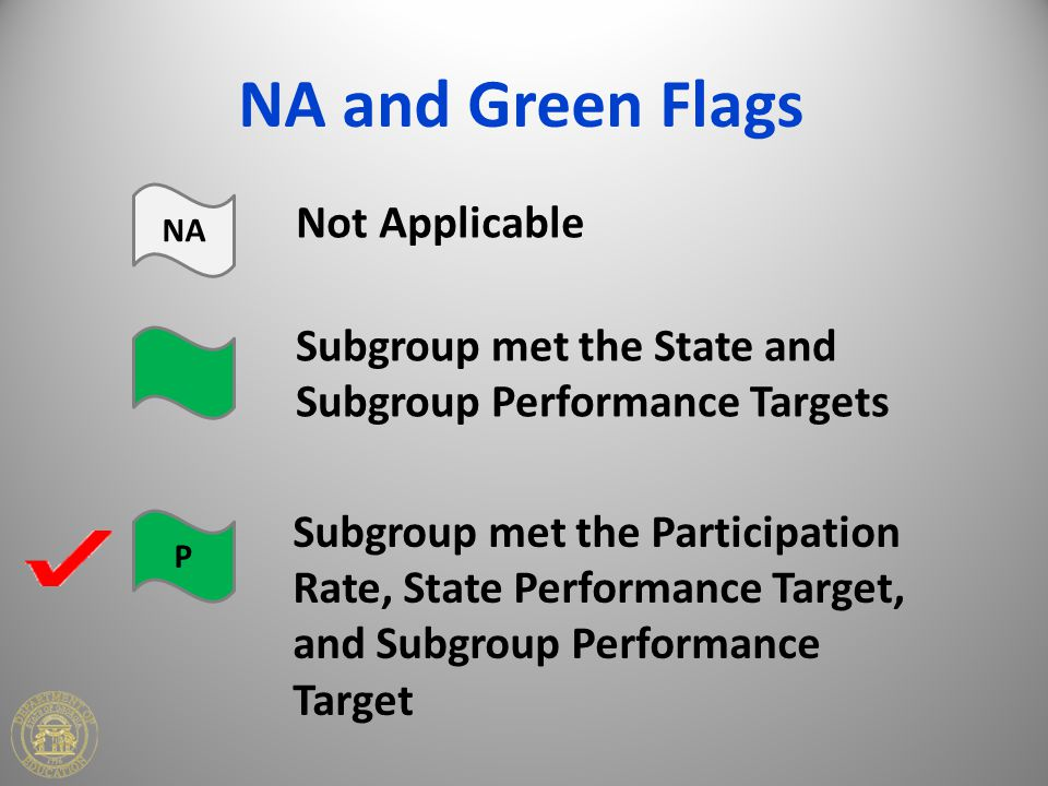 NA and Green Flags Not Applicable