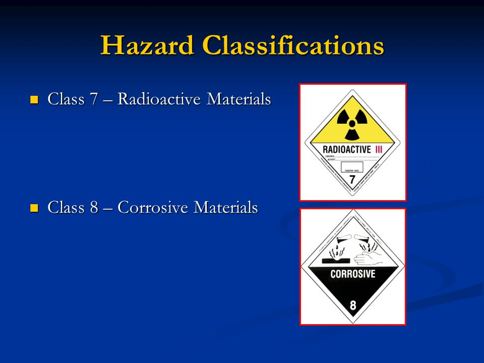 Hazard Classifications