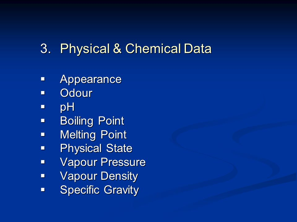 Physical & Chemical Data