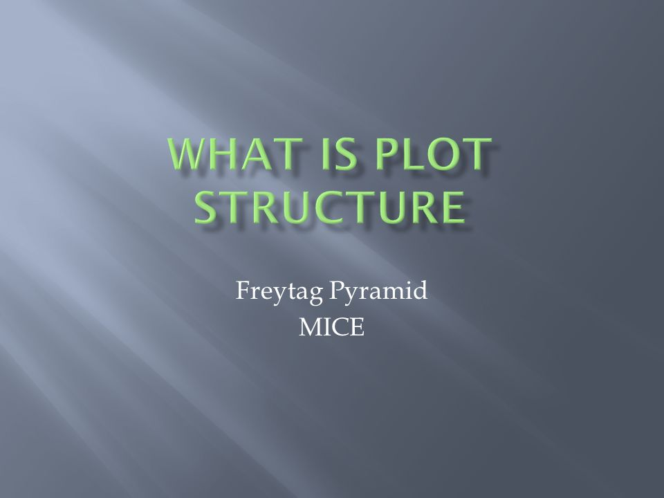 What is Plot Structure Freytag Pyramid MICE