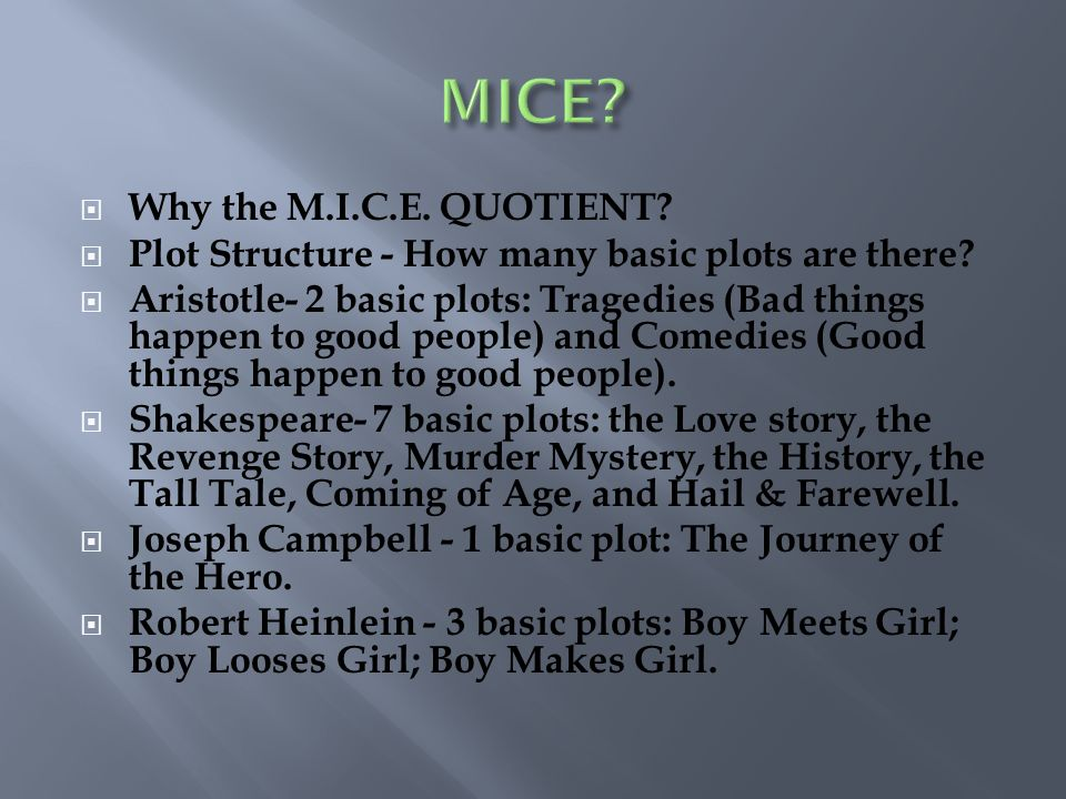 MICE Why the M.I.C.E. QUOTIENT