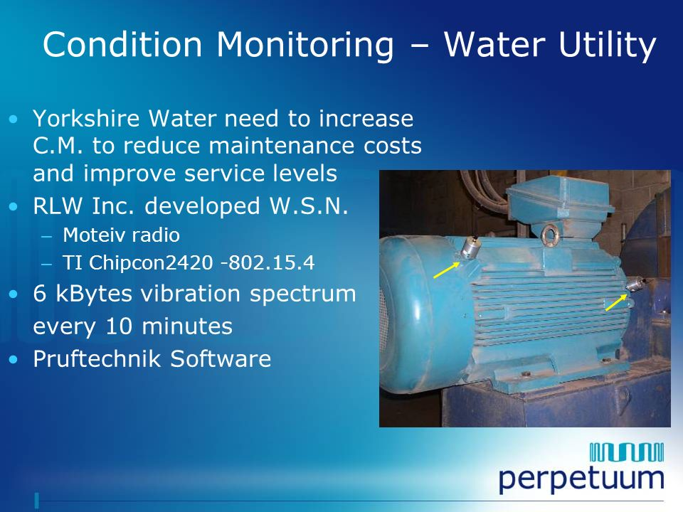 Condition Monitoring – Water Utility