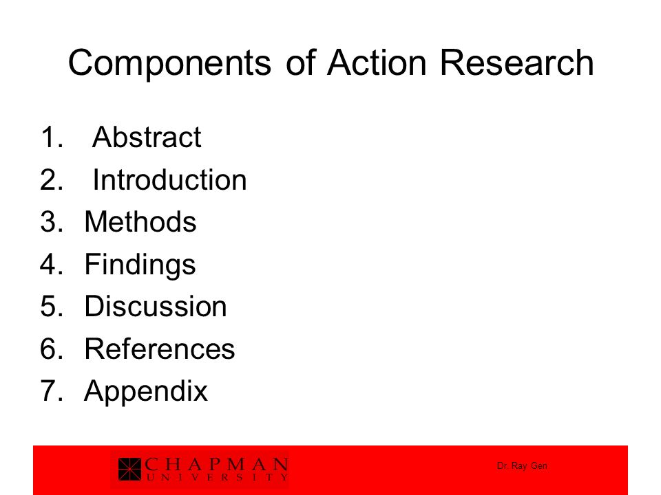Components of Action Research