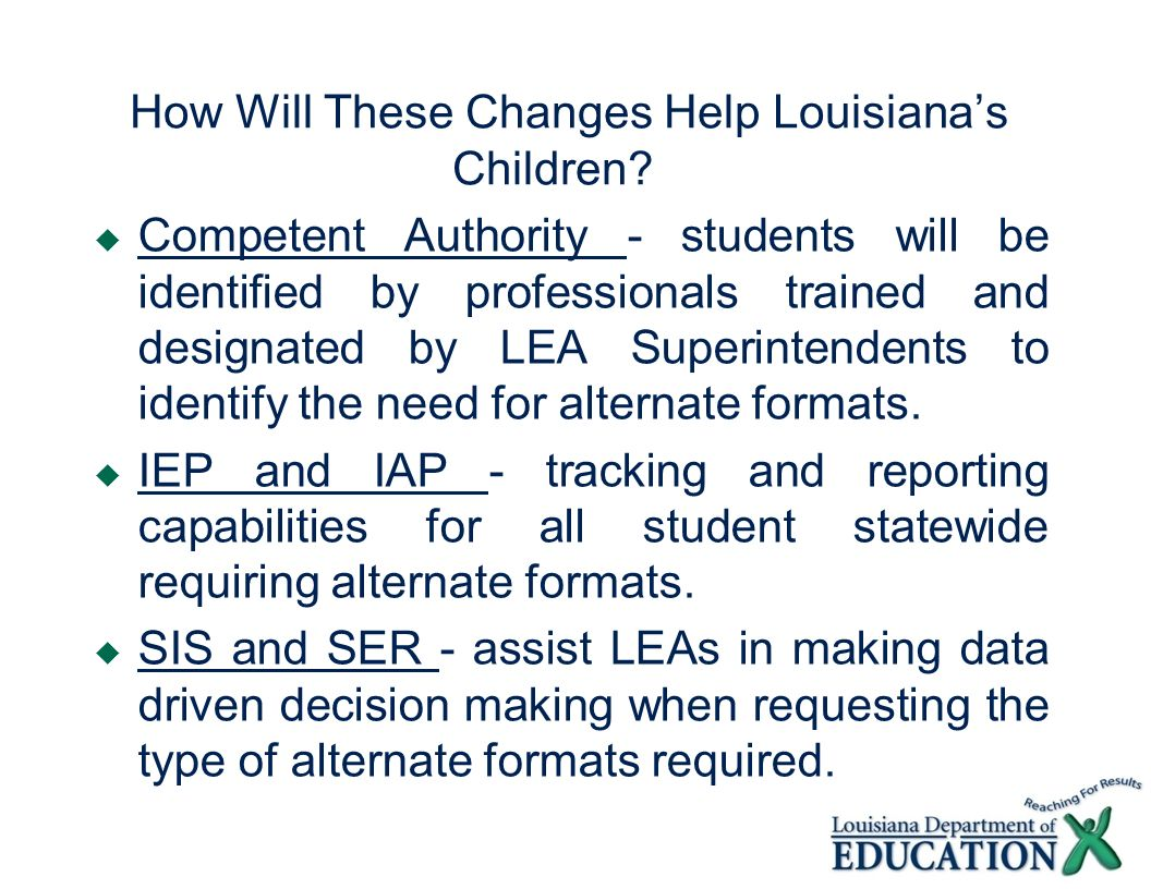How Will These Changes Help Louisiana's Children