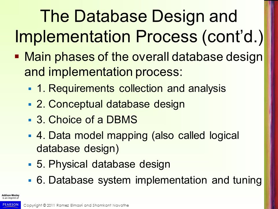 The Database Design and Implementation Process (cont'd.)