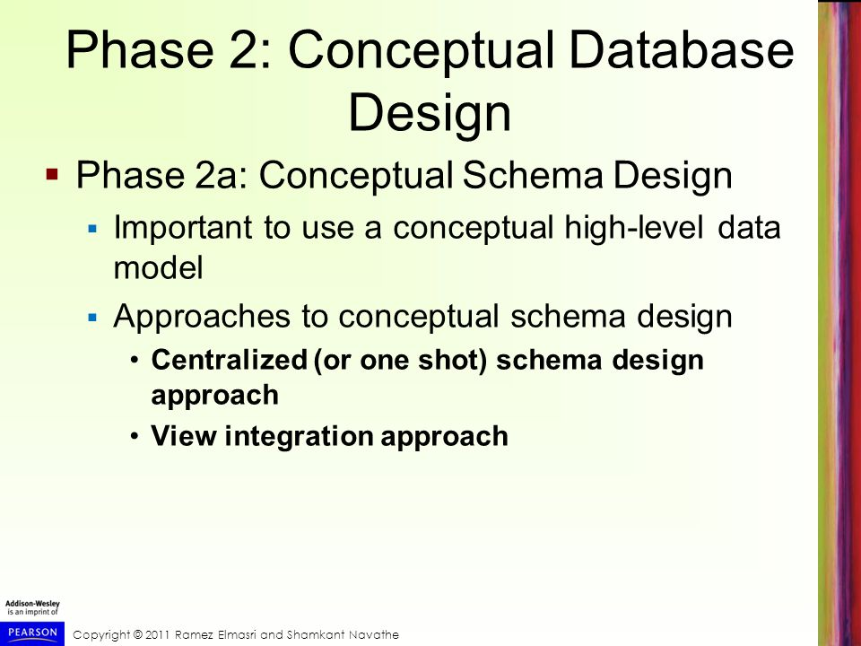 Phase 2: Conceptual Database Design
