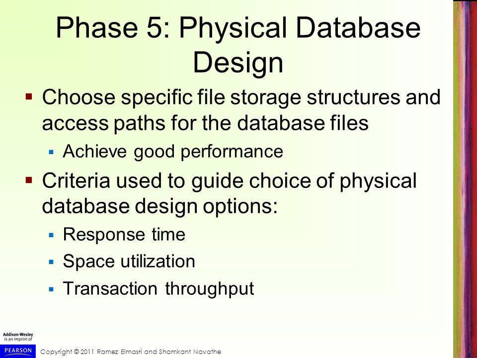 Phase 5: Physical Database Design