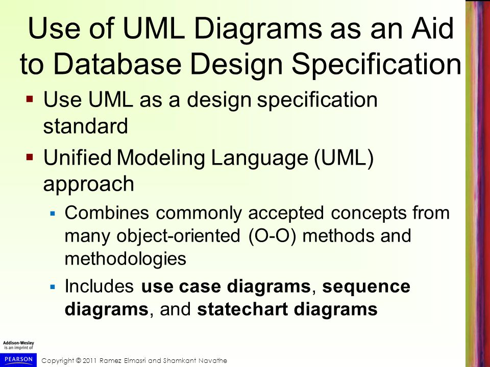Use of UML Diagrams as an Aid to Database Design Specification