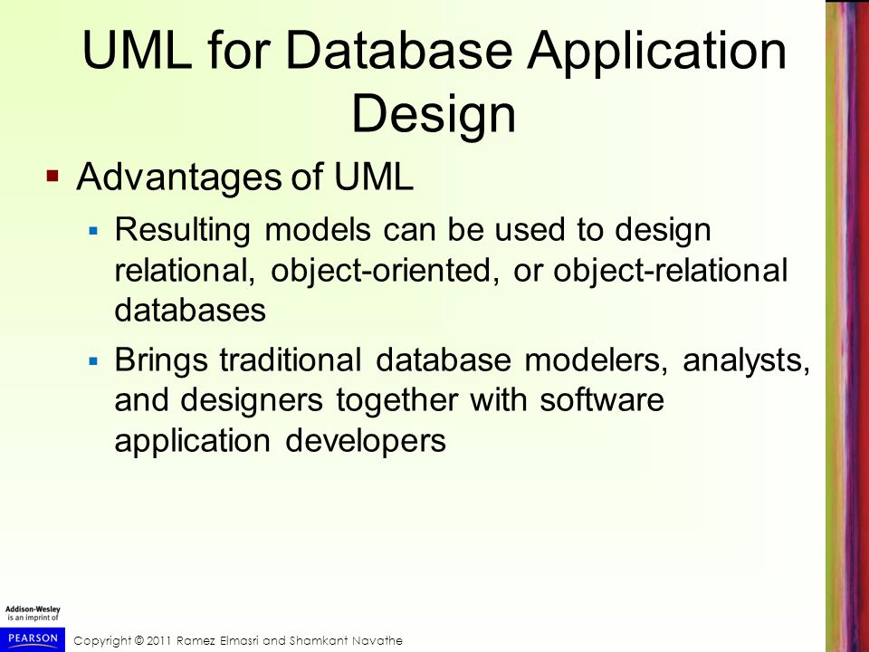 UML for Database Application Design