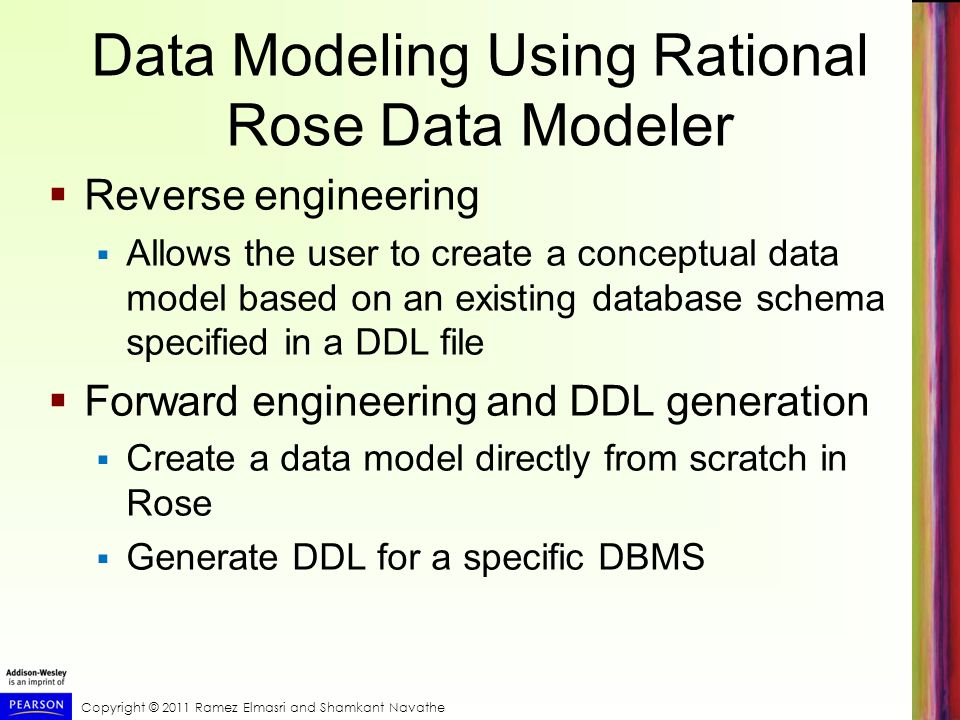 Data Modeling Using Rational Rose Data Modeler