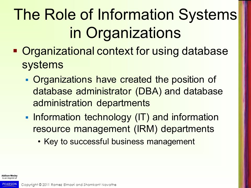 The Role of Information Systems in Organizations