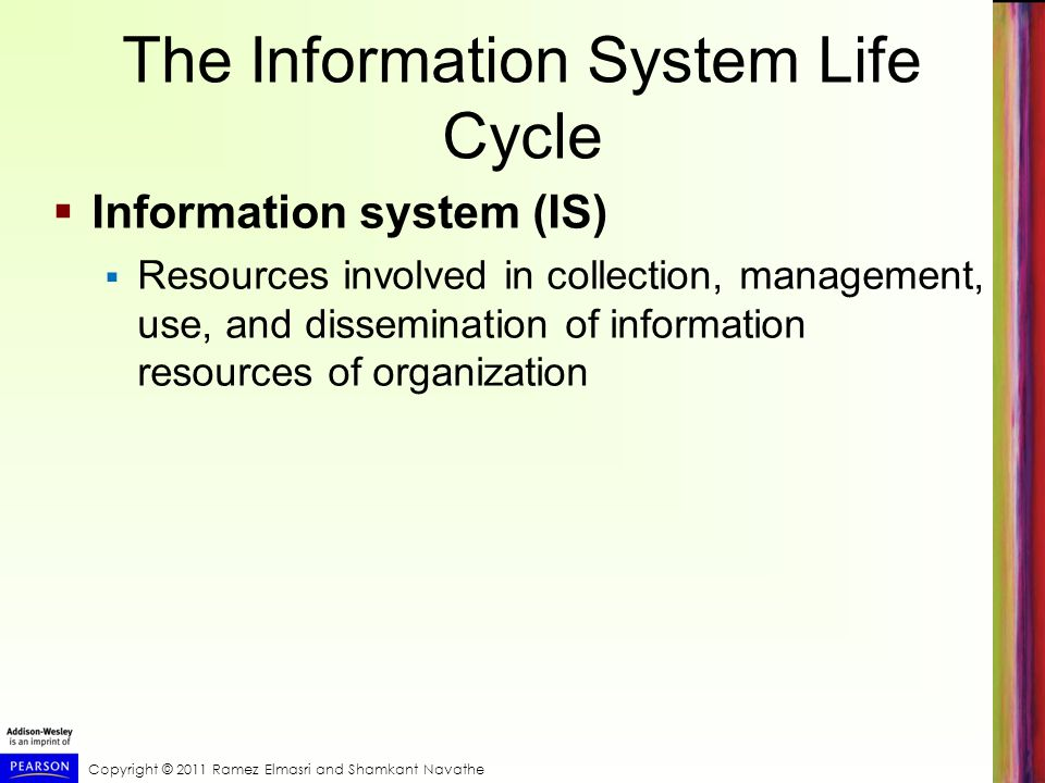The Information System Life Cycle