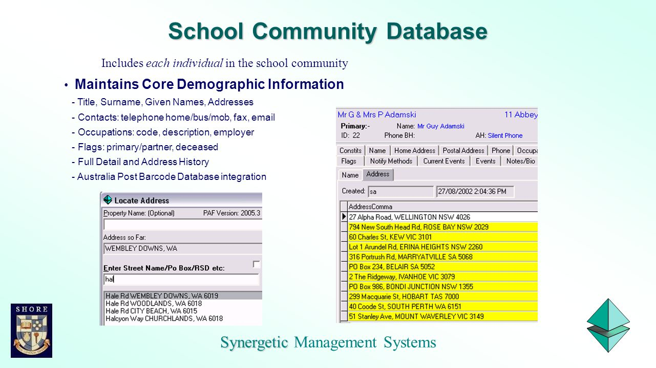 School Community Database