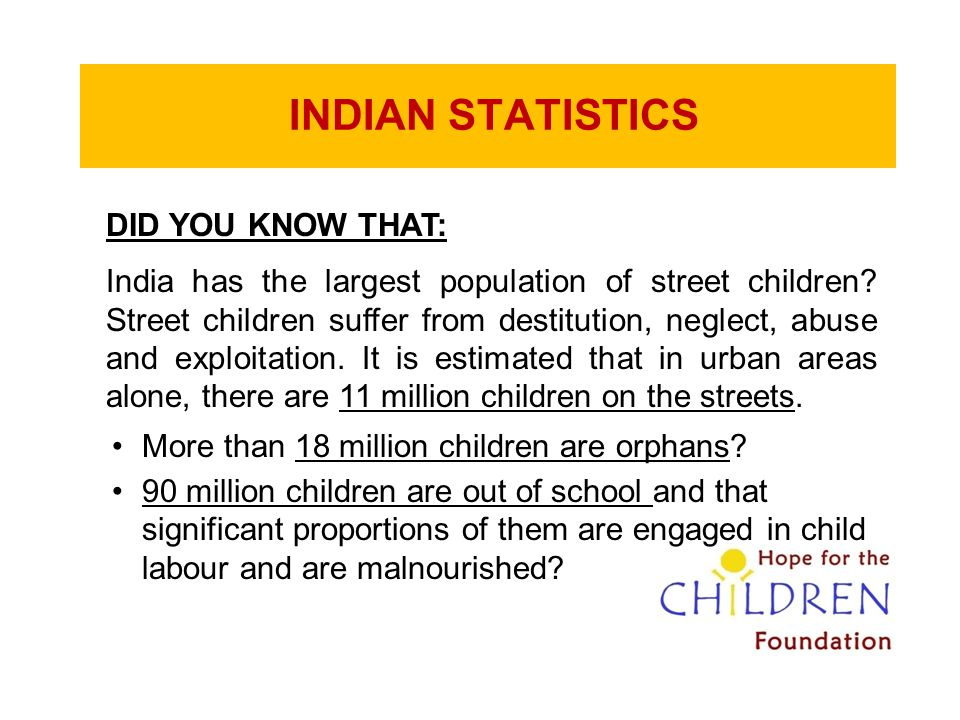 INDIAN STATISTICS DID YOU KNOW THAT: