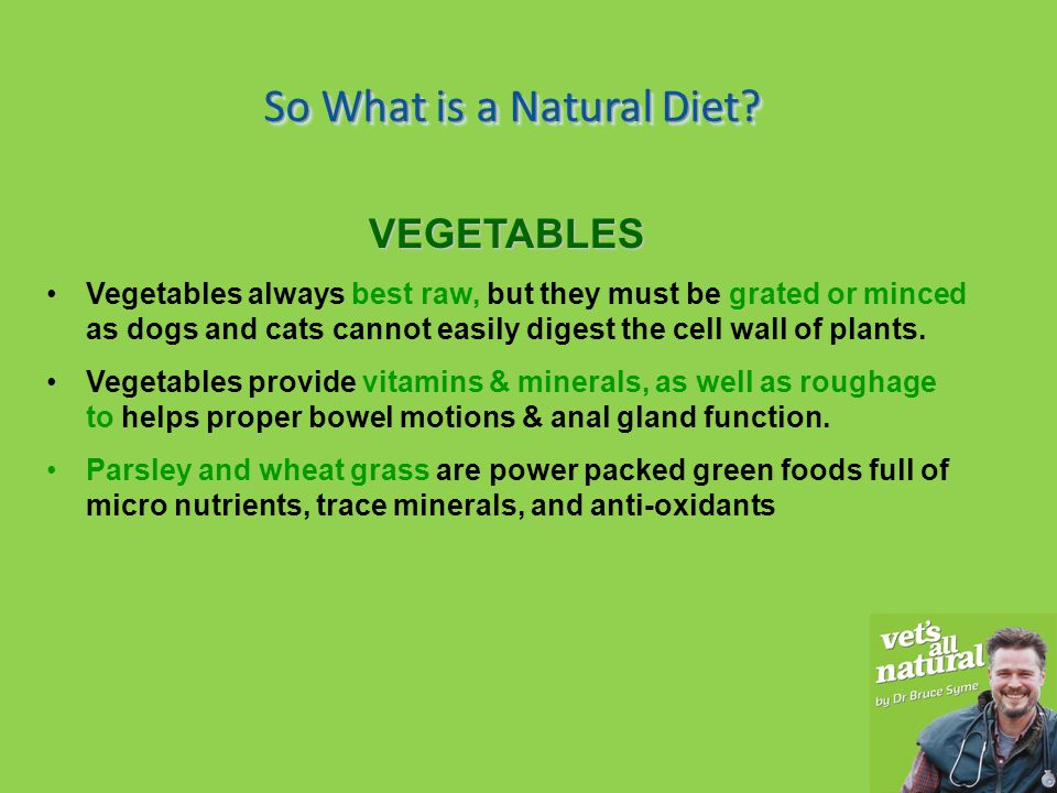 So What is a Natural Diet