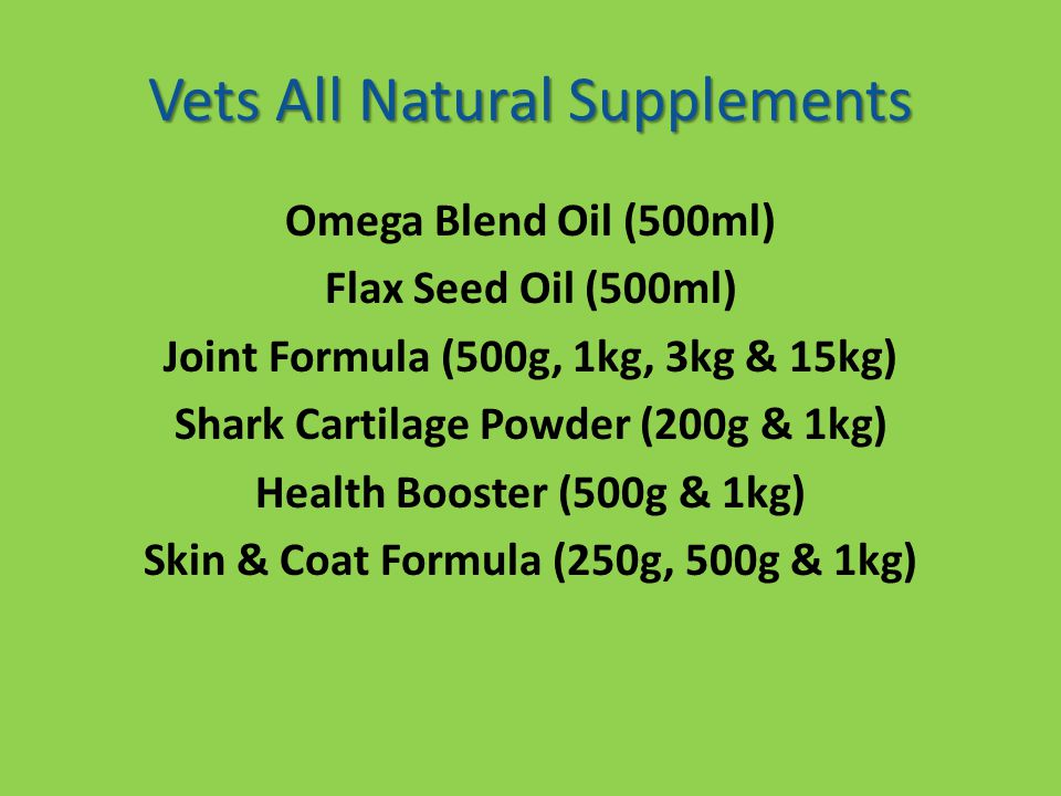 Vets All Natural Supplements
