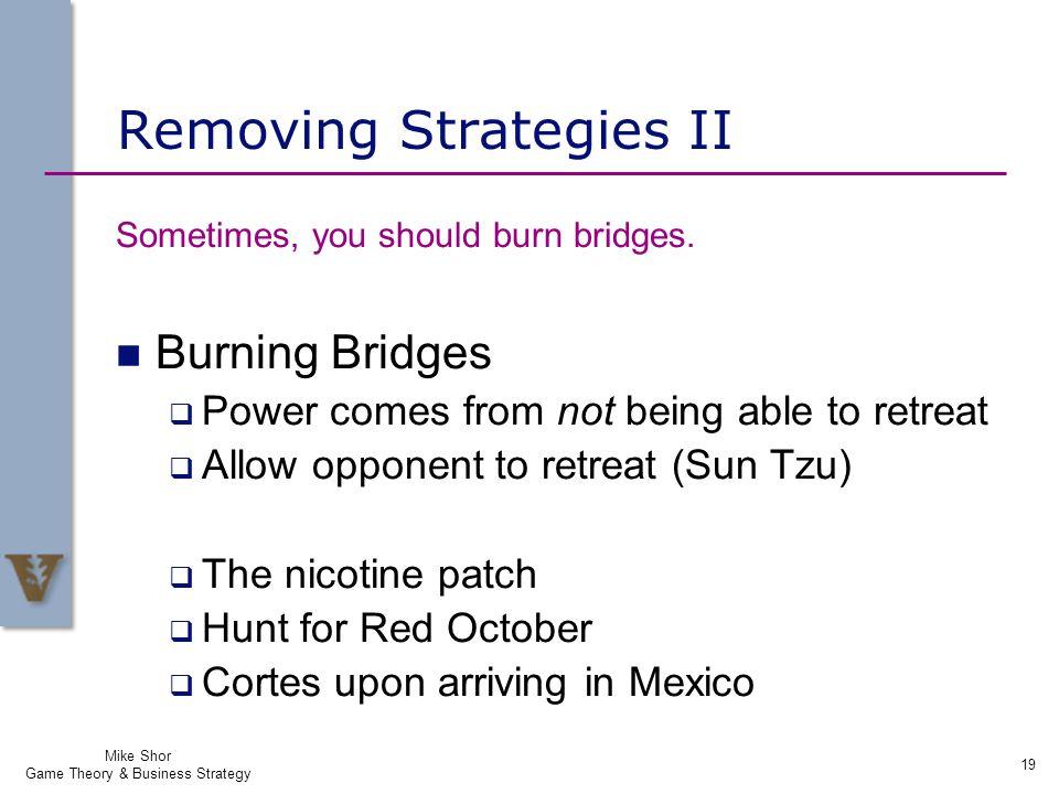 Removing Strategies II