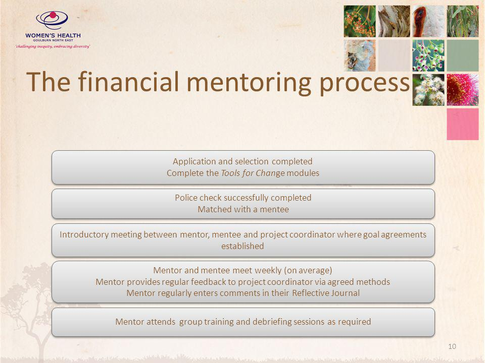 The financial mentoring process
