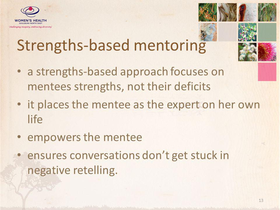 Strengths-based mentoring