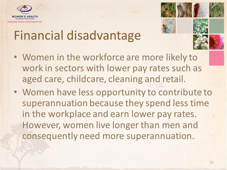 Financial disadvantage